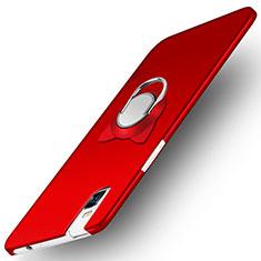 Funda Dura Plastico Rigida Mate con Anillo de dedo Soporte para Huawei Honor 7i shot X Rojo
