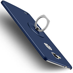 Funda Dura Plastico Rigida Mate con Anillo de dedo Soporte para Huawei Mate 7 Azul