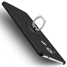Funda Dura Plastico Rigida Mate con Anillo de dedo Soporte para Huawei Mate 8 Negro