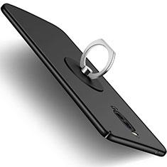 Funda Dura Plastico Rigida Mate con Anillo de dedo Soporte para Huawei Mate 9 Pro Negro