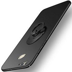 Funda Dura Plastico Rigida Mate con Anillo de dedo Soporte para Huawei Nova 2 Negro