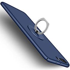 Funda Dura Plastico Rigida Mate con Anillo de dedo Soporte para Huawei P10 Plus Azul