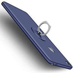 Funda Dura Plastico Rigida Mate con Anillo de dedo Soporte para Xiaomi Mi Max Azul