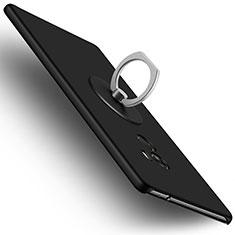 Funda Dura Plastico Rigida Mate con Anillo de dedo Soporte para Xiaomi Mi Mix Negro