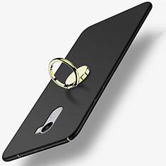 Funda Dura Plastico Rigida Mate con Anillo de dedo Soporte para Xiaomi Redmi 4 Standard Edition Negro