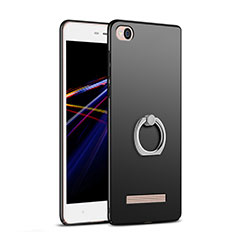 Funda Dura Plastico Rigida Mate con Anillo de dedo Soporte para Xiaomi Redmi 5A Negro