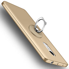 Funda Dura Plastico Rigida Mate con Anillo de dedo Soporte para Xiaomi Redmi Note 4 Oro