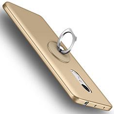 Funda Dura Plastico Rigida Mate con Anillo de dedo Soporte para Xiaomi Redmi Note 4X High Edition Oro