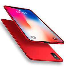 Funda Dura Plastico Rigida Mate con Anillo de dedo Soporte R03 para Apple iPhone Xs Max Rojo
