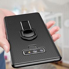 Funda Dura Plastico Rigida Mate con Magnetico Anillo de dedo Soporte para Samsung Galaxy Note 9 Negro