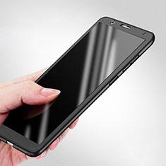 Funda Dura Plastico Rigida Mate Frontal y Trasera 360 Grados para Huawei Honor 7X Negro
