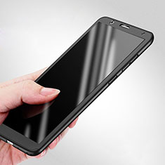 Funda Dura Plastico Rigida Mate Frontal y Trasera 360 Grados para Huawei Honor Play 7X Negro