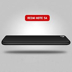 Funda Dura Plastico Rigida Mate Frontal y Trasera 360 Grados para Xiaomi Redmi Note 5A Standard Edition Negro
