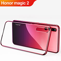 Funda Dura Plastico Rigida Mate Frontal y Trasera 360 Grados Q01 para Huawei Honor Magic 2 Rojo