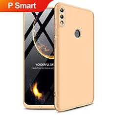 Funda Dura Plastico Rigida Mate Frontal y Trasera 360 Grados Q01 para Huawei P Smart (2019) Oro