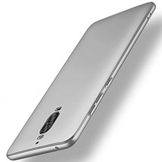 Funda Dura Plastico Rigida Mate M01 para Huawei Mate 9 Pro Plata