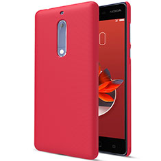 Funda Dura Plastico Rigida Mate M01 para Nokia 5 Rojo
