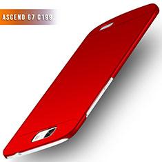 Funda Dura Plastico Rigida Mate M02 para Huawei Ascend G7 Rojo