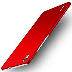 Funda Dura Plastico Rigida Mate M02 para Huawei Ascend P7 Rojo