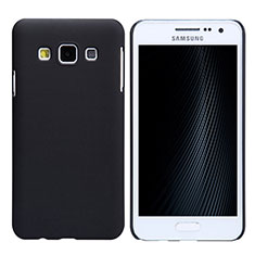 Funda Dura Plastico Rigida Mate M02 para Samsung Galaxy A3 Duos SM-A300F Negro