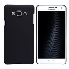 Funda Dura Plastico Rigida Mate M02 para Samsung Galaxy A7 Duos SM-A700F A700FD Negro