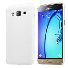 Funda Dura Plastico Rigida Mate M02 para Samsung Galaxy J3 (2016) J320F J3109 Blanco