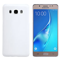 Funda Dura Plastico Rigida Mate M02 para Samsung Galaxy J5 Duos (2016) Blanco