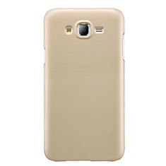 Funda Dura Plastico Rigida Mate M02 para Samsung Galaxy J7 SM-J700F J700H Oro