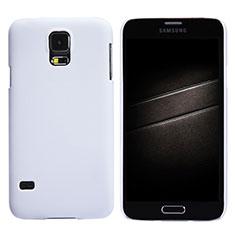 Funda Dura Plastico Rigida Mate M02 para Samsung Galaxy S5 G900F G903F Blanco