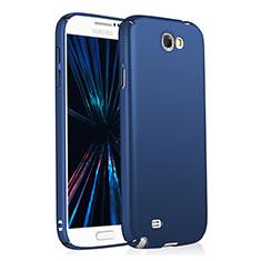 Funda Dura Plastico Rigida Mate M03 para Samsung Galaxy Note 2 N7100 N7105 Azul