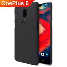 Funda Dura Plastico Rigida Mate M04 para OnePlus 6 Negro