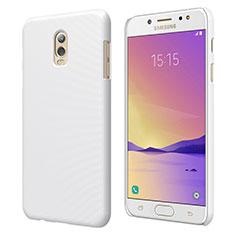 Funda Dura Plastico Rigida Mate M04 para Samsung Galaxy J7 Plus Blanco