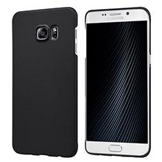 Funda Dura Plastico Rigida Mate M04 para Samsung Galaxy S6 Edge+ Plus SM-G928F Negro