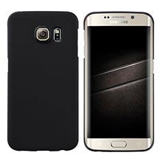 Funda Dura Plastico Rigida Mate M04 para Samsung Galaxy S6 Edge SM-G925 Negro