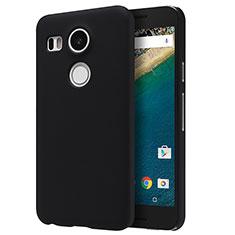 Funda Dura Plastico Rigida Mate P01 para Google Nexus 5X Negro
