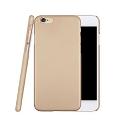 Funda Dura Plastico Rigida Mate para Apple iPhone 6S Oro