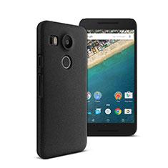 Funda Dura Plastico Rigida Mate para Google Nexus 5X Negro