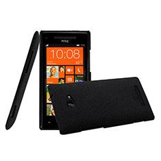 Funda Dura Plastico Rigida Mate para HTC 8X Windows Phone Negro