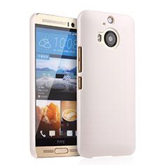 Funda Dura Plastico Rigida Mate para HTC One M9 Plus Blanco