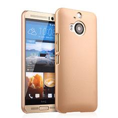 Funda Dura Plastico Rigida Mate para HTC One M9 Plus Oro
