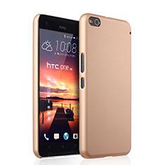 Funda Dura Plastico Rigida Mate para HTC One X9 Oro
