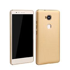 Funda Dura Plastico Rigida Mate para Huawei GR5 Oro