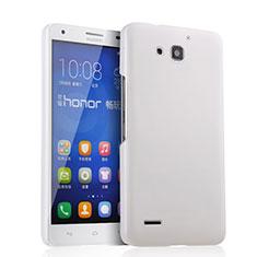 Funda Dura Plastico Rigida Mate para Huawei Honor 3X G750 Blanco