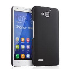 Funda Dura Plastico Rigida Mate para Huawei Honor 3X G750 Negro