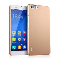Funda Dura Plastico Rigida Mate para Huawei Honor 6 Plus Oro