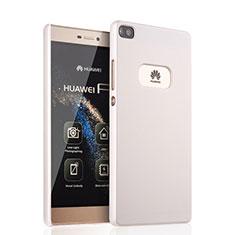 Funda Dura Plastico Rigida Mate para Huawei P8 Blanco