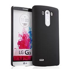 Funda Dura Plastico Rigida Mate para LG G3 Negro