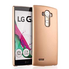 Funda Dura Plastico Rigida Mate para LG G4 Oro