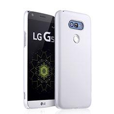 Funda Dura Plastico Rigida Mate para LG G5 Blanco