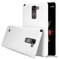 Funda Dura Plastico Rigida Mate para LG Stylus 2 Plus Blanco